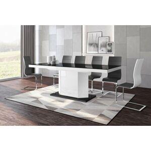 Rozkládací jídelní stůl AMIGO Barva nábytku: Černo/bílá