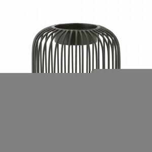 Svícen POINT VIRGULE Wire, černý, 13 x 14 cm