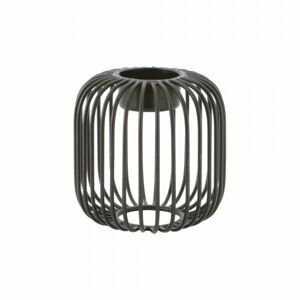 Svícen POINT VIRGULE Wire, černý, 9,5 x 9,5 cm