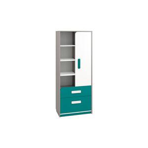 Policový regál se zásuvkami IQ 03 Barva nábytku: Modro/zelená