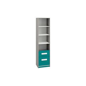 Knihovna se zásuvkami IQ 06 Barva nábytku: Modro/zelená
