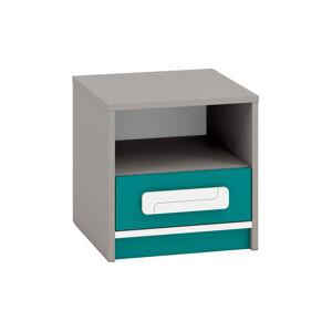 Noční stolek IQ 13 Barva nábytku: Modro/zelená