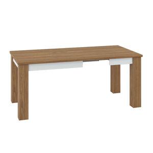 Rozkládací jídelní stůl DALLAS 15 Barva nábytku: Bílý lesk