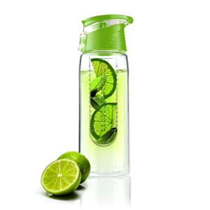 Láhev FLAVOUR 2 GO 600 ml, zelená s infusérem