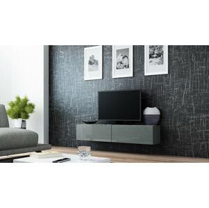 Televizní stolek VIGO 140 Provedení: Šedá/šedý lesk