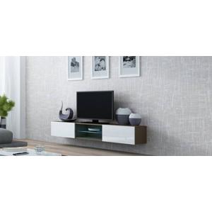 Televizní stolek VIGO 180 GLASS Provedení: Latte/bílý lesk