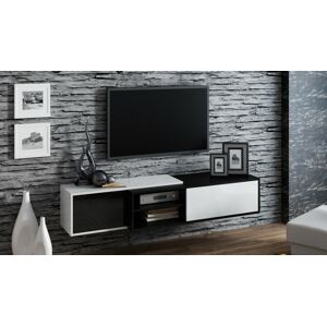 Závěsný televizní stolek SIGMA 1 Provedení: Bílo/černý lesk