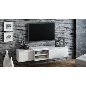 Závěsný televizní stolek SIGMA 1 Provedení: Bílý lesk
