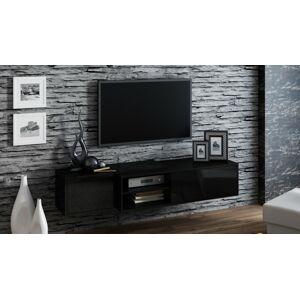 Závěsný televizní stolek SIGMA 1 Provedení: Černý lesk