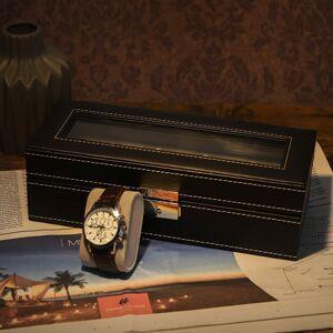 Kazeta na hodinky umělá kůže černá 5