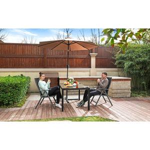 Hliníková zahradní židle polohovatelná černá nosnost 150 Kg