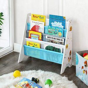 Dětská knihovna modrobílá 63x60 cm