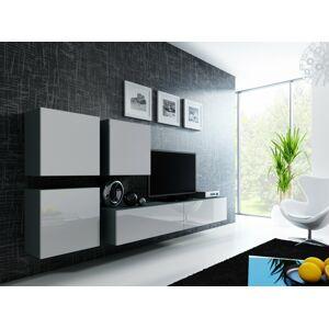 Obývací stěna VIGO 23 Barva: šedá/bílá