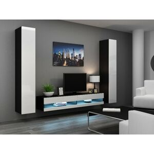 Obývací stěna VIGO NEW 4 Barva: černá/bílá