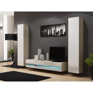 Obývací stěna VIGO NEW 4 Barva: dub sonoma/bílá