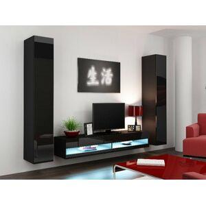 Obývací stěna VIGO NEW 4 Barva: černá