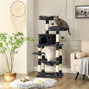 Kočičí strom škrabadlo 143 cm tmavě šedý