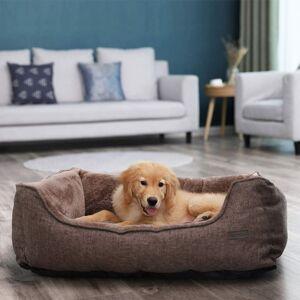 Pelíšek pro psa, 90cm, tmavě hnědý