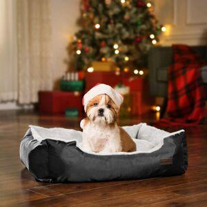 Pelíšek pro psa, 85cm, černošedý