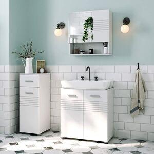 Koupelnová zrcadlová skříňka bílá 54 x 55 cm