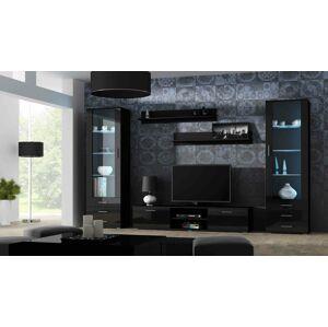 Obývací stěna SOHO 4 Barva: černá