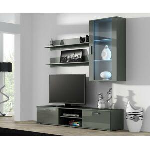 Obývací stěna SOHO 5 Barva: šedá, Délka TV stolku: 140cm