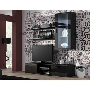 Obývací stěna SOHO 5 Barva: černá, Délka TV stolku: 180cm