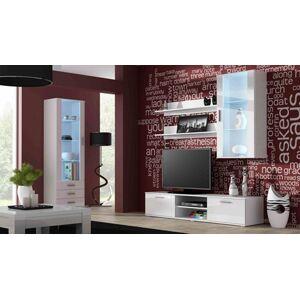 Obývací stěna SOHO 6 Barva: Bílá, Délka TV stolku: 140cm