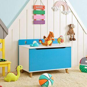 Truhla na hračky modrobílá 70 x 52 x 40 cm