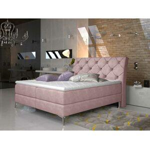 Čalouněná postel ADEL Boxsprings 160 x 200 cm Provedení: Omega 91