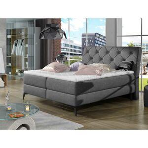 Čalouněná postel LAOS Boxsprings 180 x 200 cm Provedení: Sawana 05