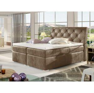 Čalouněná postel BALVIN Boxsprings 140 x 200 cm Provedení: Monolith 09