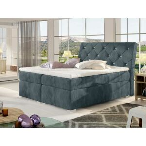 Čalouněná postel BALVIN Boxsprings 160 x 200 cm Provedení: Paros 06