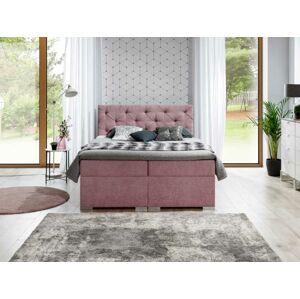Čalouněná postel BALVIN Boxsprings 160 x 200 cm Provedení: Soro 61