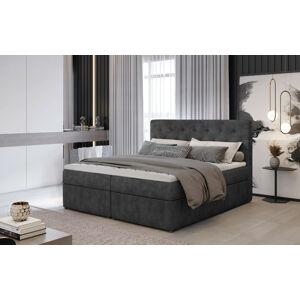 Čalouněná postel LOREE Boxsprings 140 x 200 cm Provedení: Dora 96