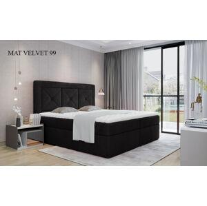 Čalouněná postel IDRIS Boxsprings 140 x 200 cm Provedení: Mat Velvet 99