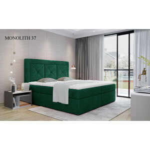 Čalouněná postel IDRIS Boxsprings 140 x 200 cm Provedení: Monolith 37