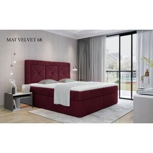 Čalouněná postel IDRIS Boxsprings 160 x 200 cm Provedení: Mat Velvet 68