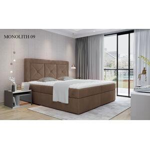 Čalouněná postel IDRIS Boxsprings 160 x 200 cm Provedení: Monolith 09
