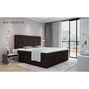 Čalouněná postel IDRIS Boxsprings 160 x 200 cm Provedení: Mat Velvet 29