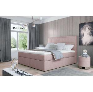 Čalouněná postel MERON Boxsprings 140 x 200 cm Provedení: Omega 91