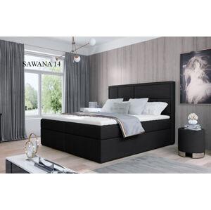 Čalouněná postel MERON Boxsprings 140 x 200 cm Provedení: Sawana 14