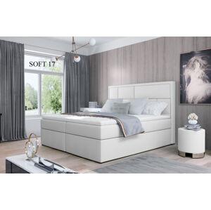 Čalouněná postel MERON Boxsprings 140 x 200 cm Provedení: Soft 17
