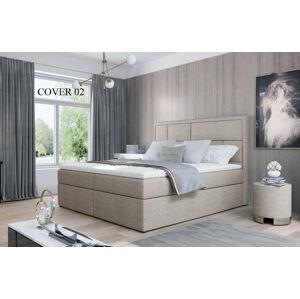 Čalouněná postel MERON Boxsprings 140 x 200 cm Provedení: Cover 02