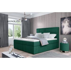 Čalouněná postel MERON Boxsprings 160 x 200 cm Provedení: Monolith 37