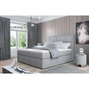 Čalouněná postel MERON Boxsprings 160 x 200 cm Provedení: Sawana 21