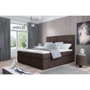 Čalouněná postel MERON Boxsprings 160 x 200 cm Provedení: Dora 28