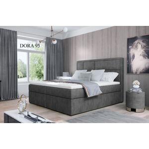 Čalouněná postel MERON Boxsprings 160 x 200 cm Provedení: Dora 95