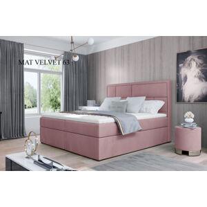 Čalouněná postel MERON Boxsprings 160 x 200 cm Provedení: Mat Velvet 63