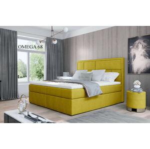 Čalouněná postel MERON Boxsprings 180 x 200 cm Provedení: Omega 68